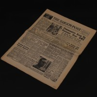 Saigon Post newspaper featuring Colonel Kurtz (Marlon Brando)