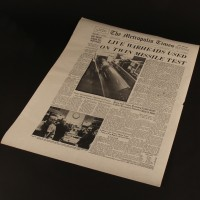 Metropolis Times newspaper cover