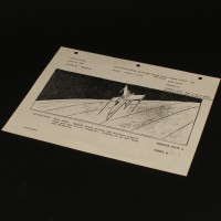 Production used storyboard - X-Wing
