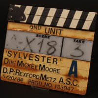 Production used second unit clapperboard