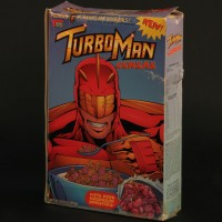 Turbo Man cereal box