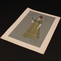 Mrs Bute Crawley (Fanny Rowe) costume design artwork