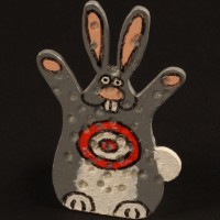 Rabbit shooting target miniature