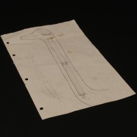 Hand drawn ostrich puppet concept artwork