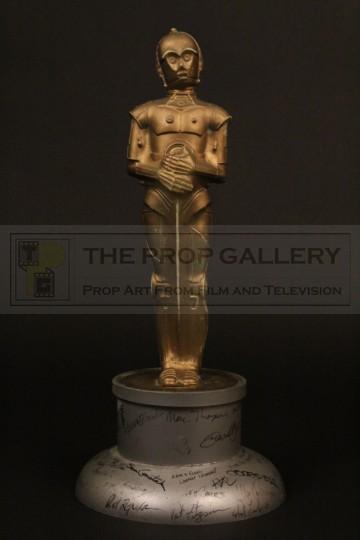 ILM C-3PO Oscar statuette presented to Brian Johnson