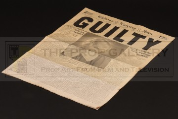Roxie Hart (Renee Zellweger) guilty verdict newspaper