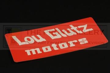 Lou Glutz Motors licence plate