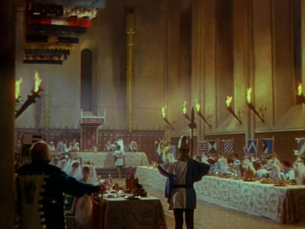 Matte painting from The Black Knight (1954)