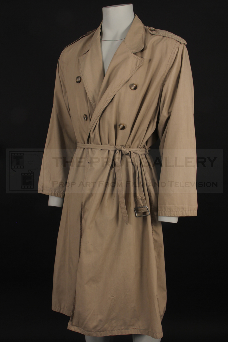 An original trench coat worn on screen by Christopher Lambert as Connor MacLeod in Highlander (1986)