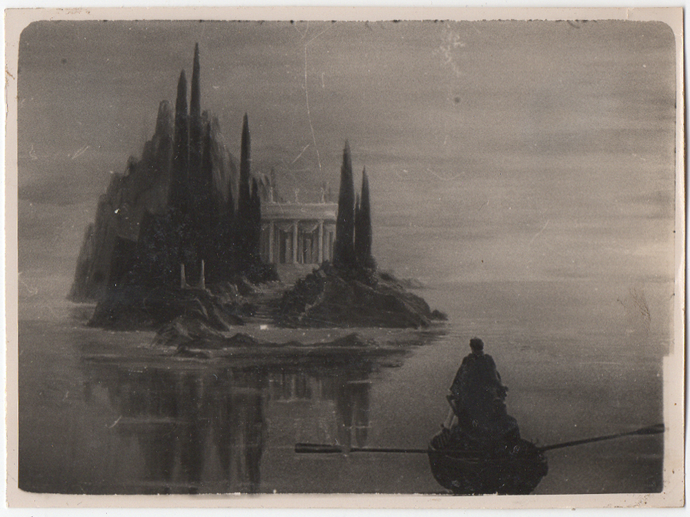 Matte painting for The Tales of Hoffmann (1951)
