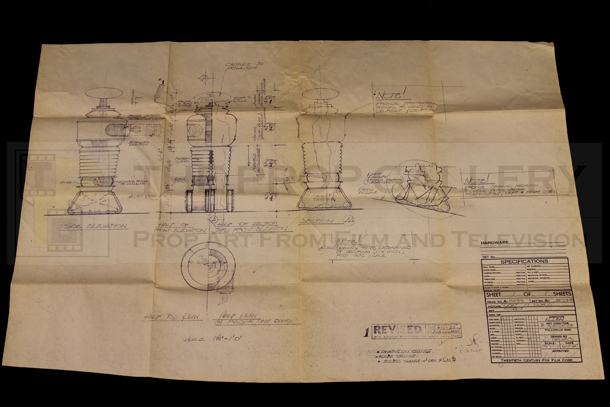 The original plans used by Bob Stewart whilst construction the Lost in Space Robot