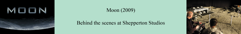 Moon (2009) behind the scenes at Shepperton Studios