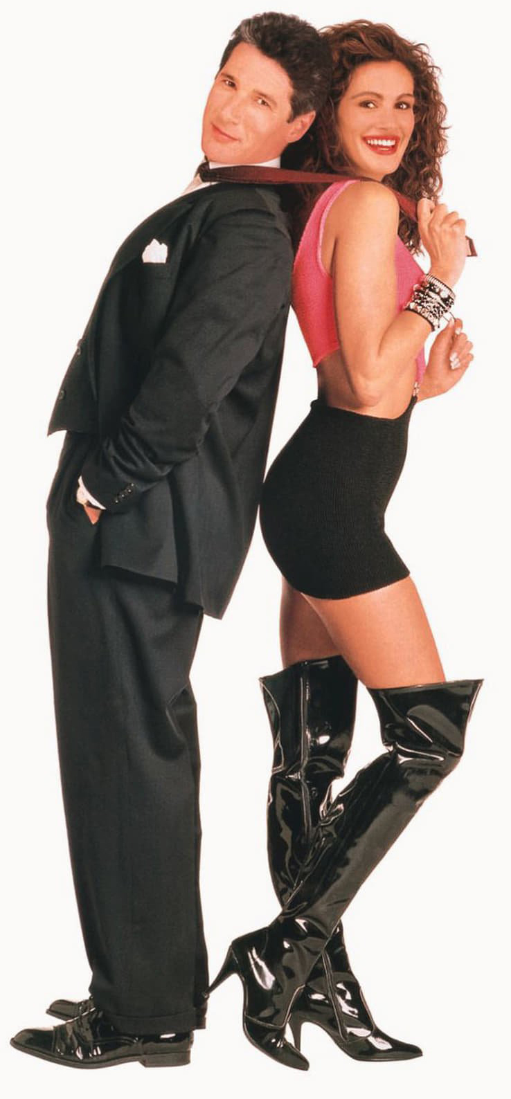 The now famous theatrical poster for Pretty Woman