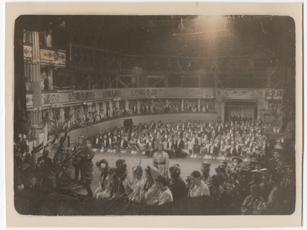Joseph Natanson matte painting for Puccini (1953)