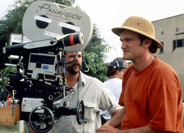Quentin Tarantino at work behind the scenes on Pulp Fiction