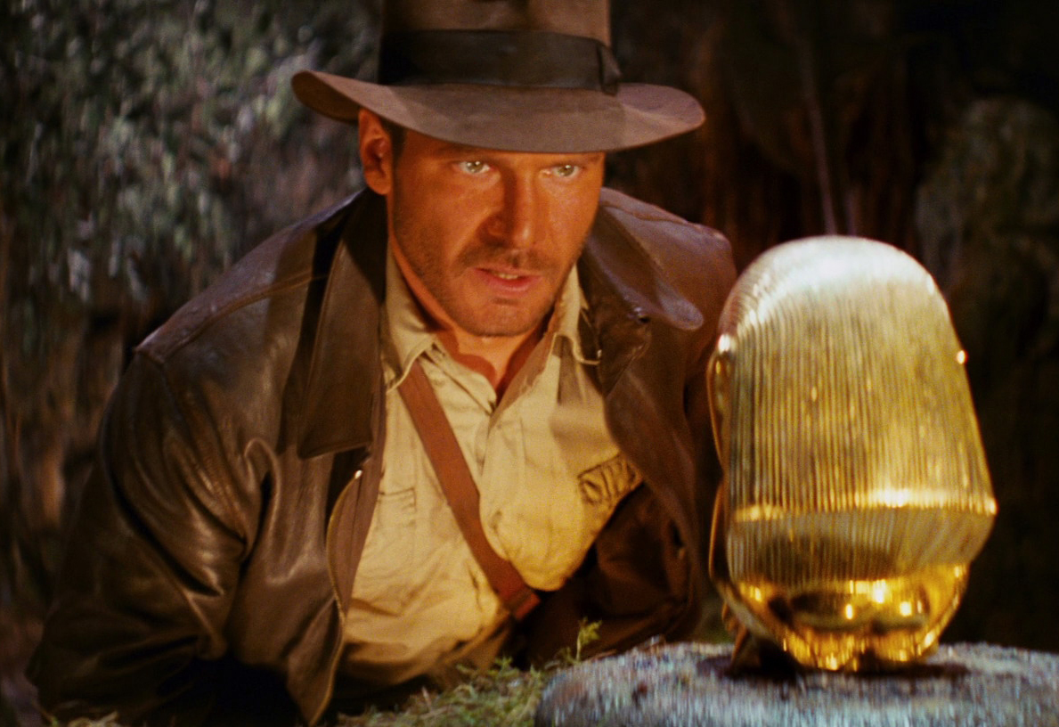 Harrison Ford as Indiana Jones in the iconic opening sequence