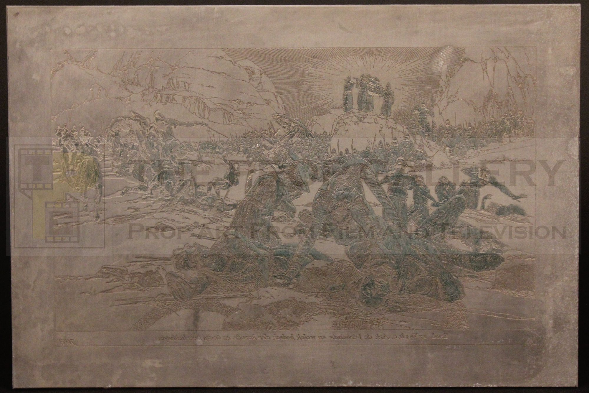 Original Ark of the Covenant etching created by Ralph McQuarrie during the production of Raiders of the Lost Ark.