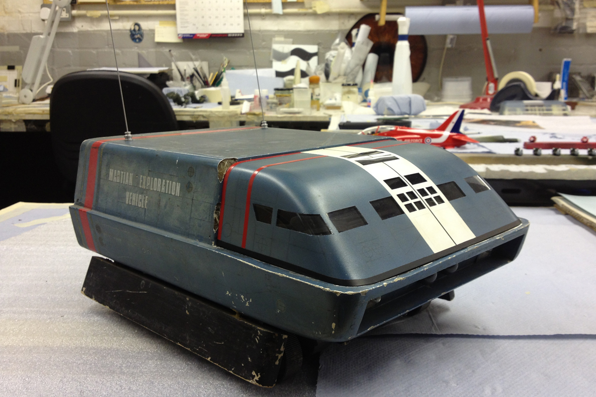 Restoring the original Zero-X filming miniature from Thunderbirds Are Go.