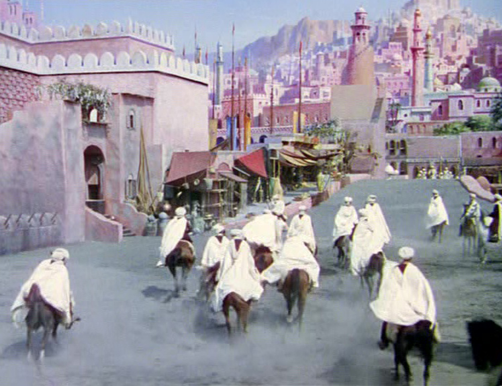 Walter Percy Day and co paint mattes for The Thief of Bagdad (1940)