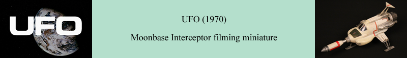Original Moonbase Interceptor filming miniature used in the production of UFO