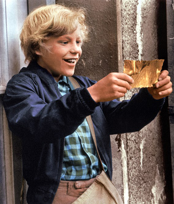 Charlie finds the Golden Ticket