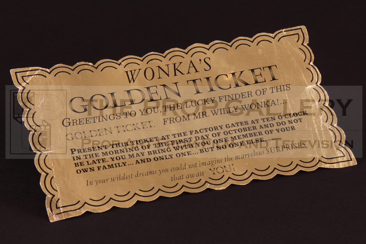 Original Golden Ticket used in the production of Willy Wonka and the Chocolate Factory (1971)