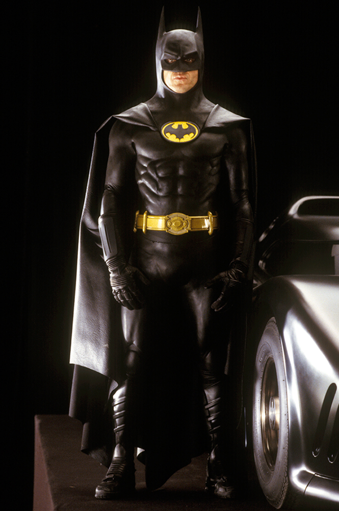 Michael Keaton as the caped crusader.