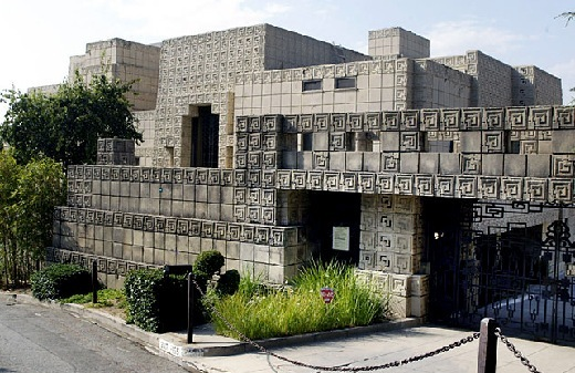The famous Ennis House designed by Frank Lloyd Wright