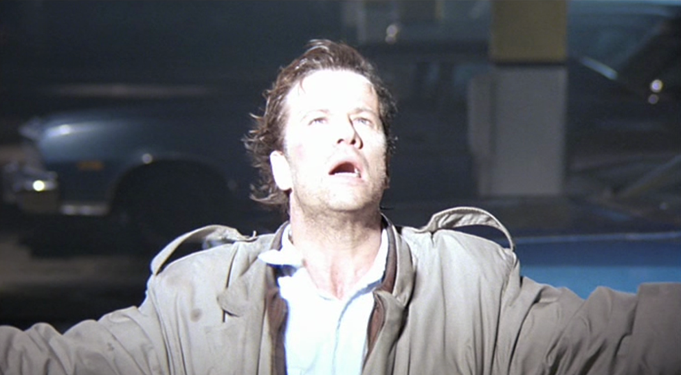 Christopher Lambert on screen as Connor MacLeod