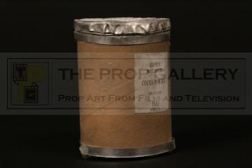 Miniature cocoa powder barrel