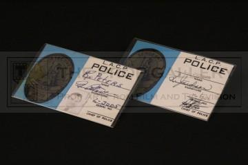 Police identification badges