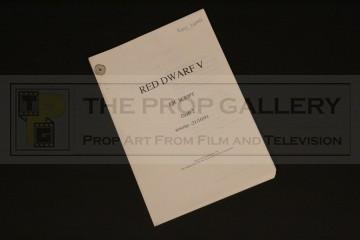 Peter Wragg personal OB script - Series V