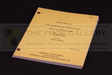 Production used script - The Minstrel's Shakedown