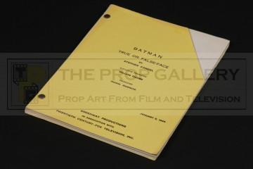 Production used script - True or False-Face