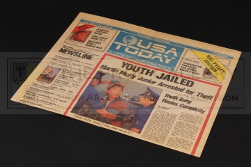 USA Today newspaper - Youth Jailed