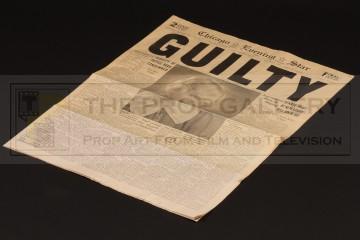 Roxie Hart (Renee Zellweger) guilty verdict newspaper