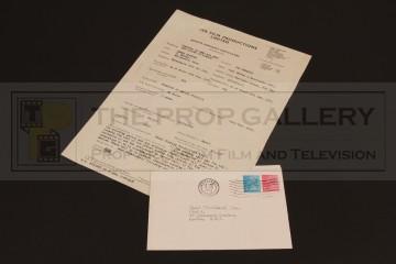 Peter Cushing (Lorrimer Van Helsing) artist contract