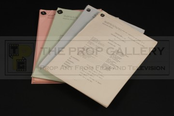 Production used rehearsal scripts - Time and the Rani