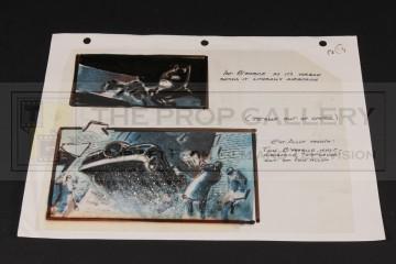 Hand drawn storyboard artwork - Batman & Batmobile