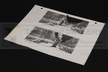 Production used storyboard - Statue of Liberty