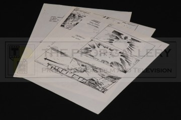Production used storyboards - Sail Barge