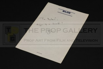 Jim Bloom personal Blue Harvest production stationary