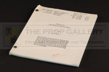 Production used script - The Legacy of Garwood Huddle