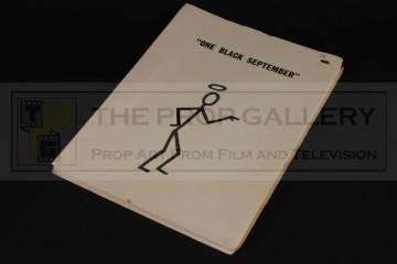 Production used script - One Black September