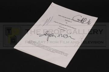 Gareth Roberts personal script - Goodbye, Sarah Jane Smith