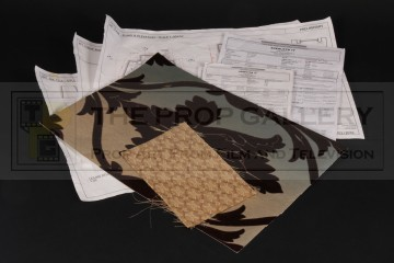 Production used paperwork & samples