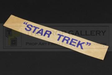 Star Trek door sign