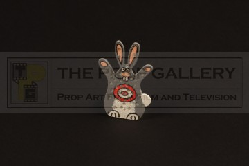 Rabbit shooting target miniature