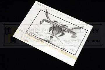 Hand drawn storyboard - Dropship