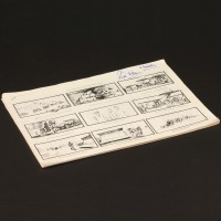 Production used storyboard sequence - Cargo plane